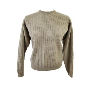 Lord & Taylor Ribbed Italian Merino Wool Pullover